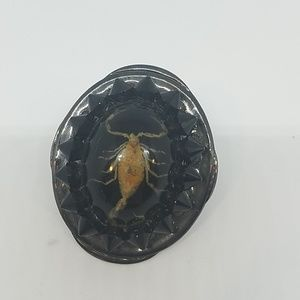 Deluxe black scorpion ring Swarovski sample
